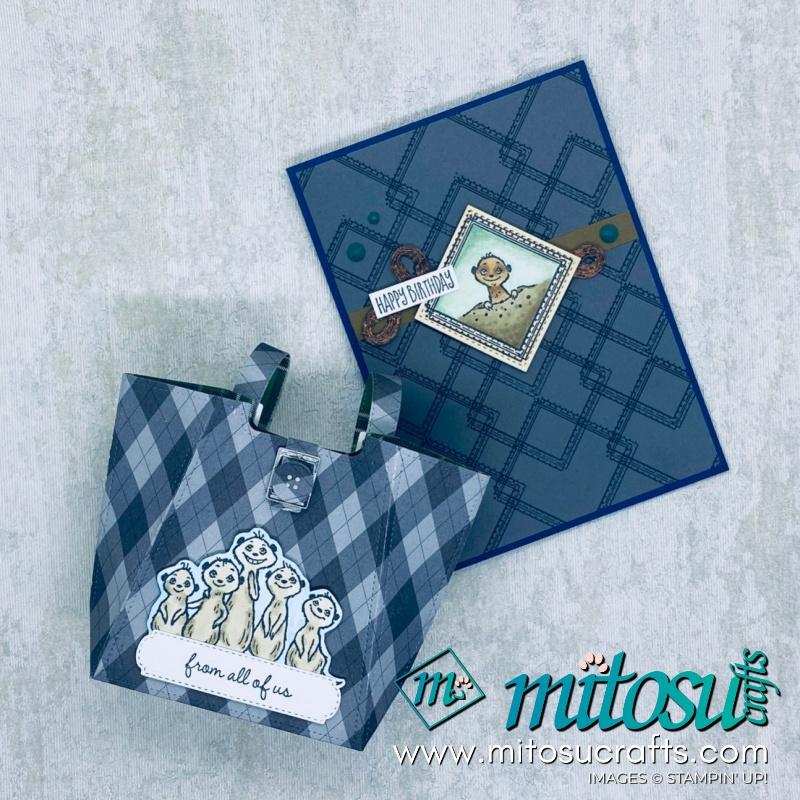 The Gang's All Meer Stampin' Up SAB Papercraft Card and Gift Bag Inspiration for The Gentlemen Crafters Design Team Hop from Mitosu Crafts