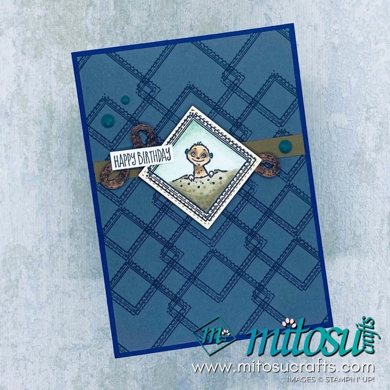 The Gang's All Meer Stampin' Up SAB Masculine Birthday Meerkat Card Inspiration for The Gentlemen Crafters Design Team Hop from Mitosu Crafts