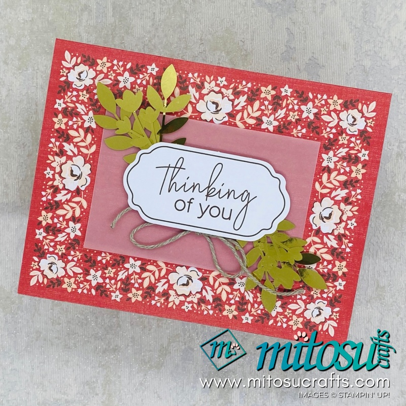 Kerchief Card Kit Stampin' Up! 2020 Sale-A-Bration Cardmaking Inspiration from Mitosu Crafts