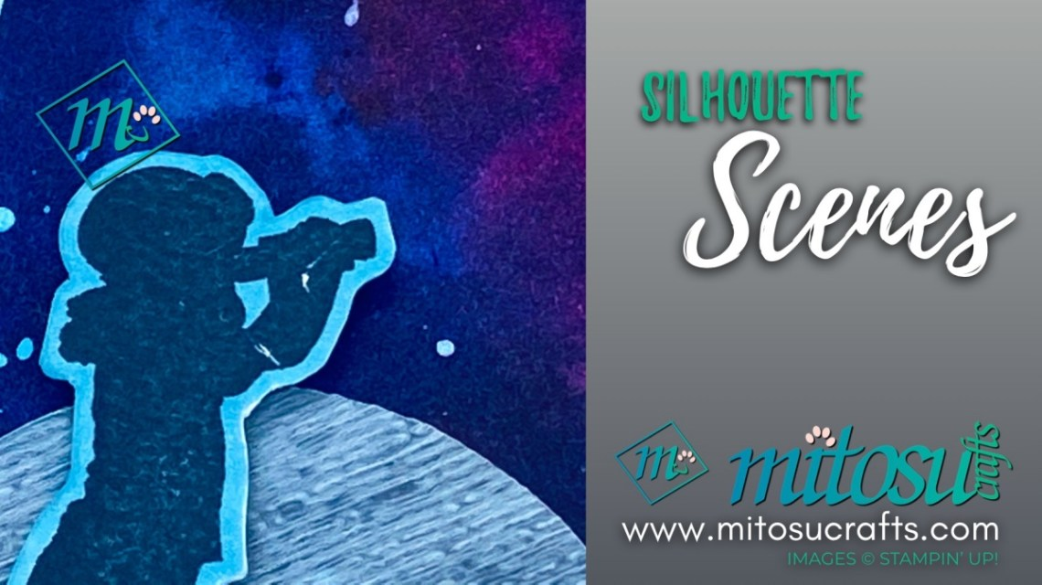 Silhouette Scenes Outer Space Galaxy Card Idea for Creating Kindness Design Team Blog Hop from Mitosu Crafts 1