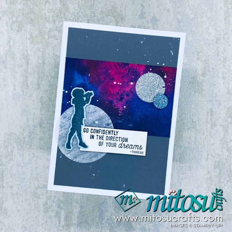 Silhouette Scenes Outer Space Galaxy Card Idea for Creating Kindness Design Team Blog Hop from Mitosu Crafts