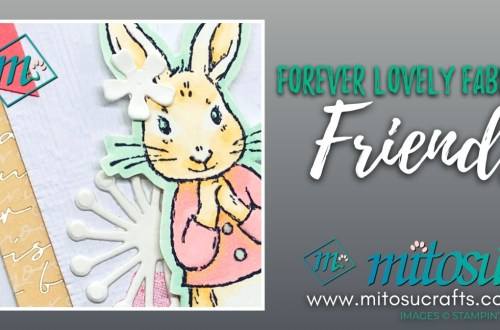 Bunn Valentine Card Idea using Forever Lovely with Fable Friends. Order Stampin Up online from Mitosu Crafts