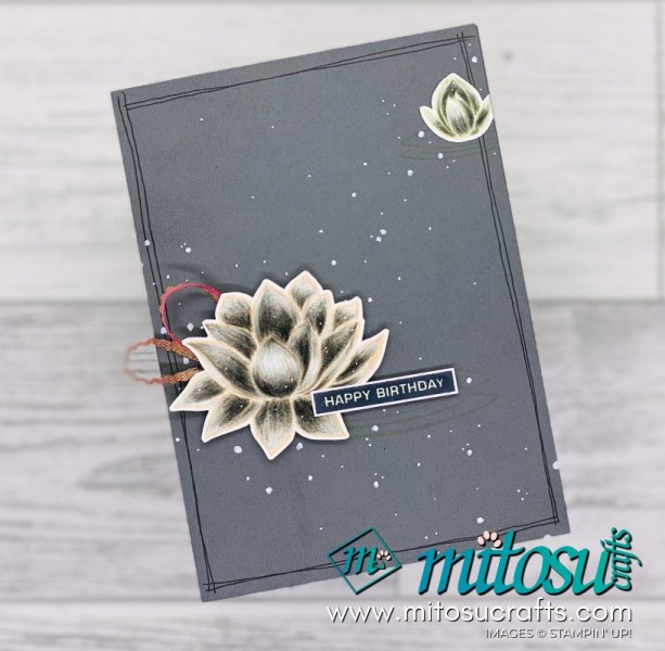 SAB Lovely Lily Pad Card Idea for The Spot Creative Challenge. Order Stampin' Up! craft supplies online from Mitosu Crafts UK shop