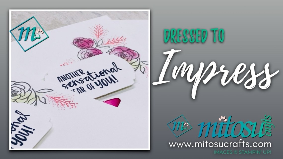 Stampin Up Dressed To Impress Card Ideas for Stamp Review Crew. Order cardmaking products online from Mitosu Crafts UK