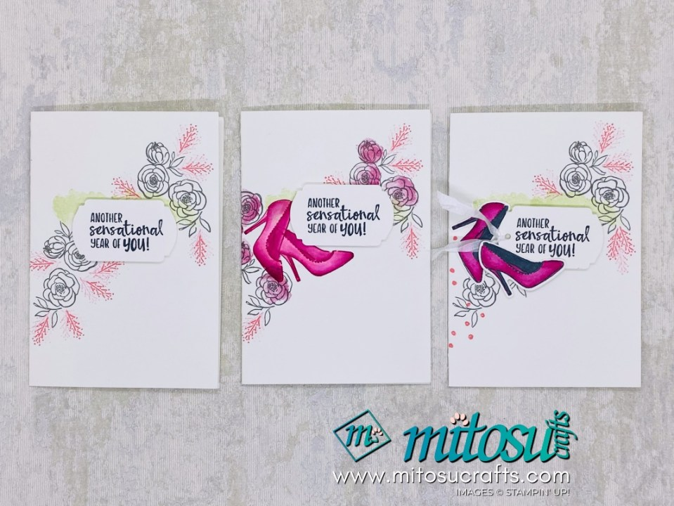 Stampin Up Dressed To Impress Notecards for Stamp Review Crew. Order cardmaking products online from Mitosu Crafts UK