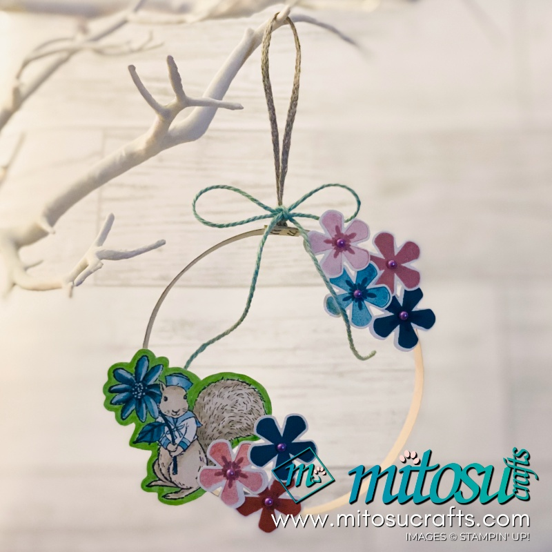 Thoughtful Blooms with Fable Friends Easter Wreath Hanging Decoration Idea from Mitosu Crafts UK