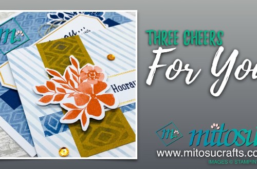 Three Cheers For You Card Project from Mitosu Crafts