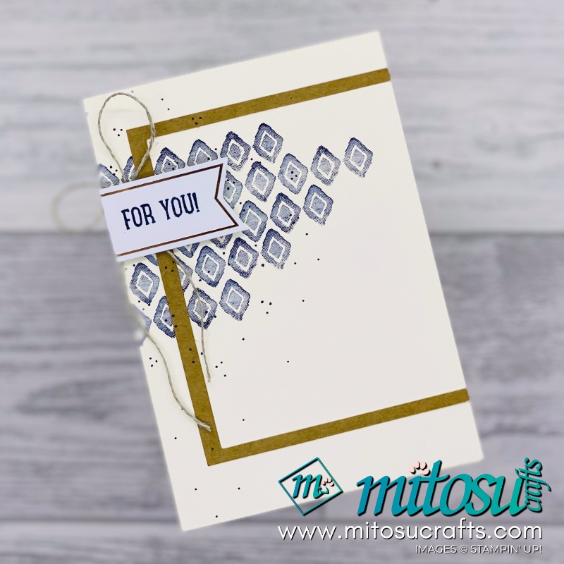 #simplestamping Three Cheers For You Alternative Notecard Project from Mitosu Crafts