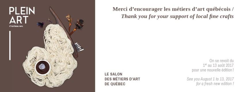 Plain Art - Salon des métiers d'art de Quebec 2017