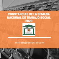 CONSTANCIAS SEMANA NACIONAL DE TRABAJO SOCIAL 2020