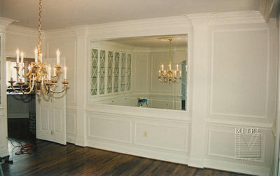 picture frame moulding below chair rail inexpensive lounge chairs wainscoting mitre contracting inc shadowboxes above chairrail