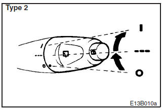 Rear window wiper and washer switch (Hatchback