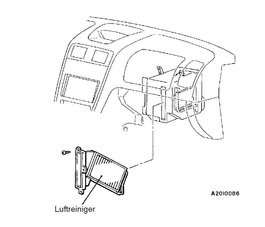 Mitsubishi Carisma Innenraumfilter