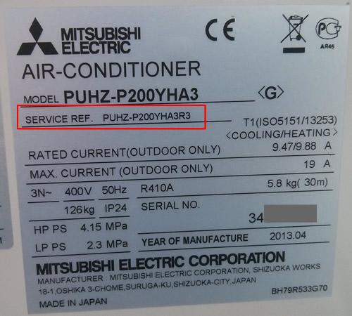 Modelo industrial de Mitsubishi Electric, Modelo y Service Reference