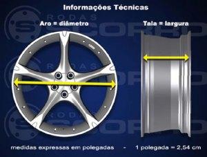 Especificações de Roda