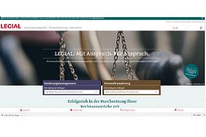 Bild der neuen Website der LEGIAL AG