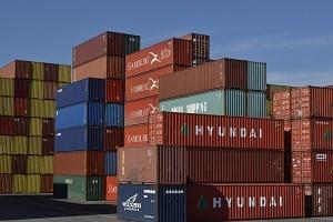 Handelskrieg Container Export Foto