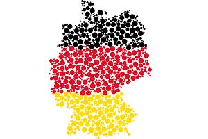 Regionalranking Deutschland Karte Umriss Foto