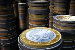 Factoring Liquidität Foto Münzen Euro