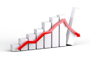 Abschwung Wirtschaft Diagramm Foto