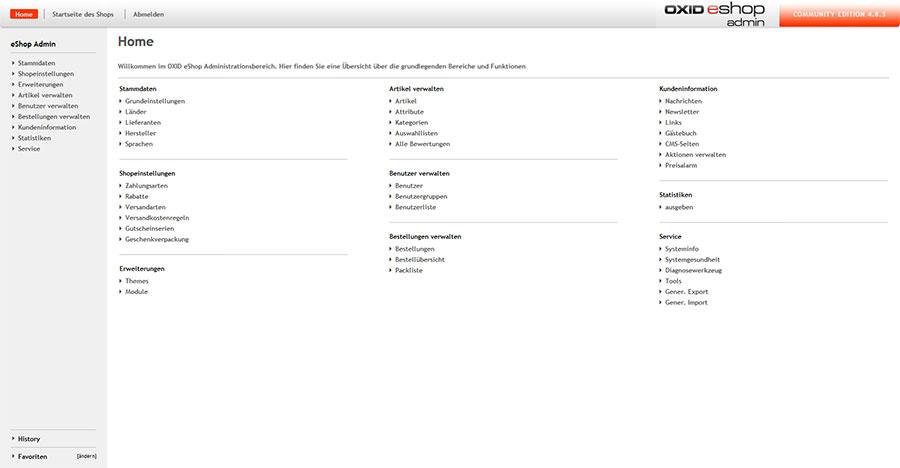Oxid Eshop Community Edition Demo: Software Free Download
