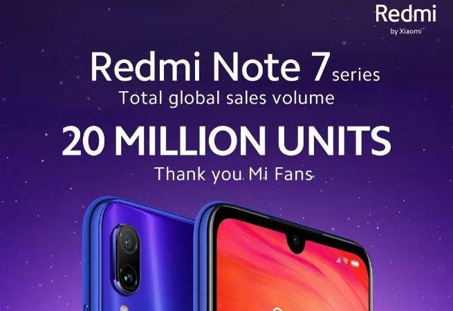 Redmi Note 7 20 milioni vendite