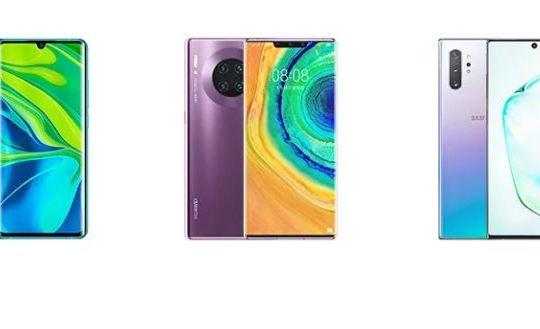 Xiaomi Mi Note 10 Pro vs Huawei Mate 30 Pro vs Samsung Galaxy Note 10+