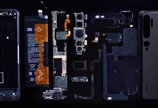 Xiaomi Mi Note 10 teardown