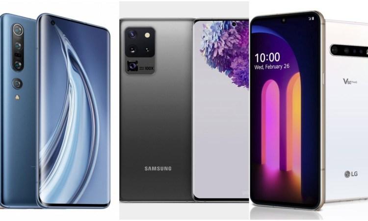 Xiaomi Mi 10 Pro vs Samsung Galaxy S20 Ultra vs LG V60 ThinQ 5G