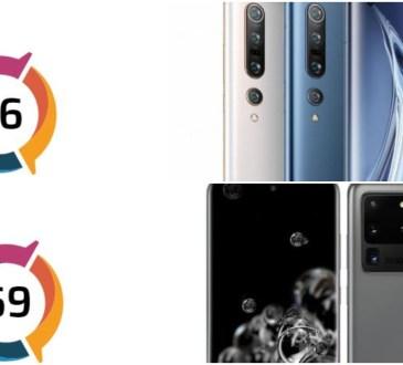Xiaomi Mi 10 Pro vs Samsung Galaxy S20 Ultra test audio