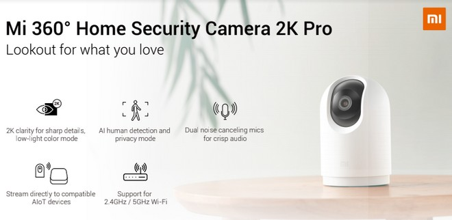 Xiaomi Mi 360 Home Security Camera 2K Pro