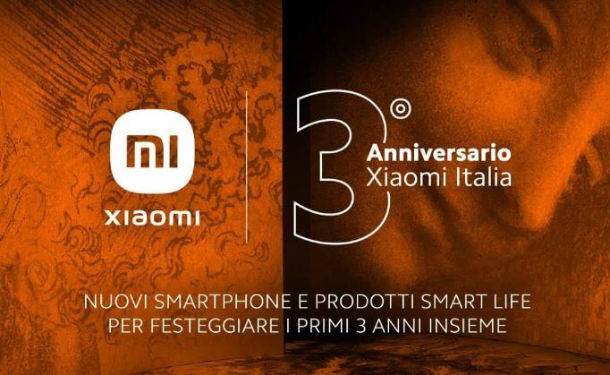 Xiaomi Italia 3 anni