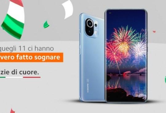 Xiaomi Italia festeggia vittoria Euro 2020