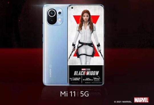 Xiaomi Mi 11 sponsor Black Widow