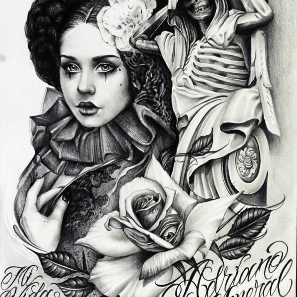 Steampung Girl Holding Skull Wallpaper Il Tatuaggio Chicano Mividaloca Tattoo