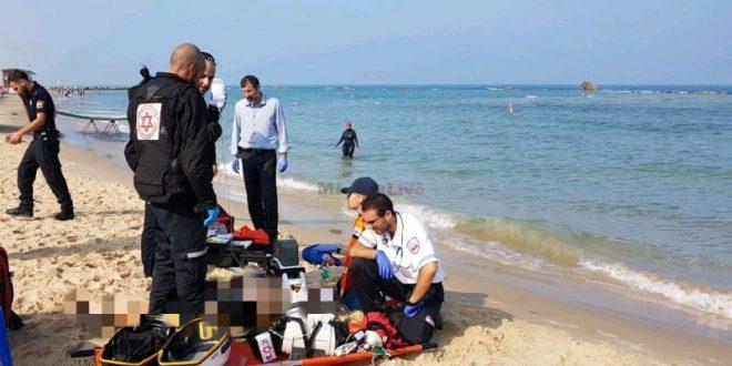 בן 58 טבע בחוף ללא שירותי הצלה סמוך למכמורת, מצבו אנוש