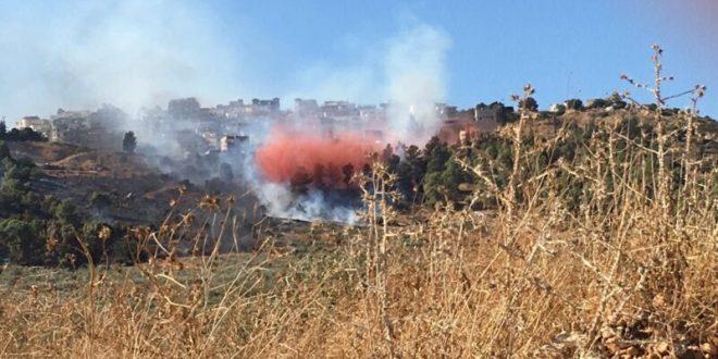 שריפת חורש פרצה סמוך לכפר בענה בגליל, תושבים פונו מבתיהם