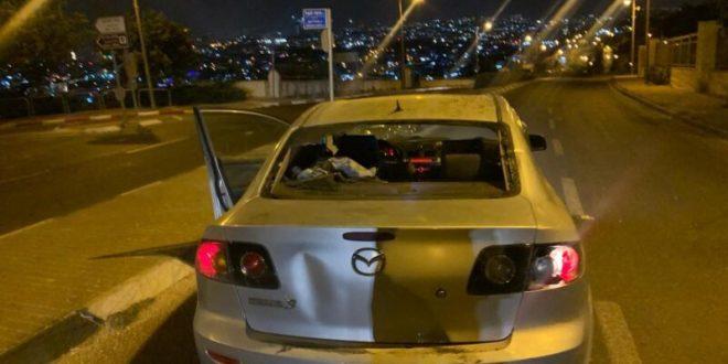 רכב הותקף באבנים בשכונת א-טור בירושלים, הנהג נפצע בראשו
