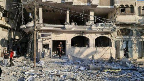 WhatsApp-Image-2021-05-13-at-18.13.28-500x281 תיעוד מטורף: תקיפת מטה המנגנון לביטחון הפנים של חמאס ברפיח