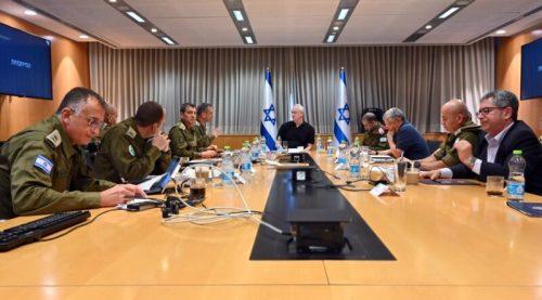 WhatsApp-Image-2021-05-18-at-20.19.52-500x277 שר הביטחון בני גנץ החל בהתייעצות ביטחונית מורחבת עם ראשי מערכת הביטחון