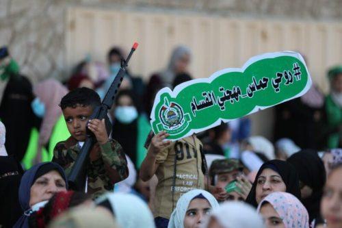 photo5875449402355726032-500x333 חמאס קיים עצרת המונית לרגל ''ניצחון ההתנגדות בקרב על חרב ירושלים''