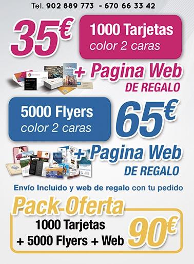 Publicidad Empresas | Publicidad Low Cost | Imprenta online | Imprenta Low Cost, Oferta Flyers Oferta Tarjetas