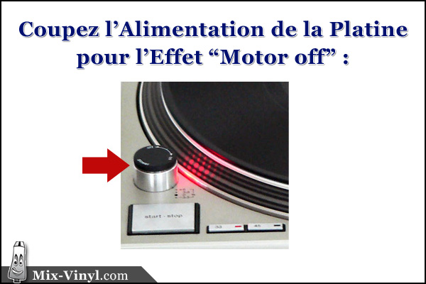 technique dj motor-off