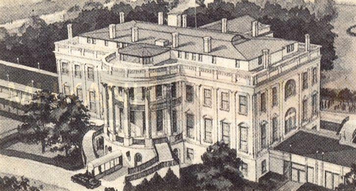 """""""Το θλιβερό σπίτι με τις κολόνες"""". Η περιήγηση στο εσωτερικό του Λευκού Οίκου το 1961. Πού βρισκόταν το ρόδινο διαμέρισμα της «δικιάς» μας Φρειδερίκης και του κομμουνιστή Μολότοφ"""