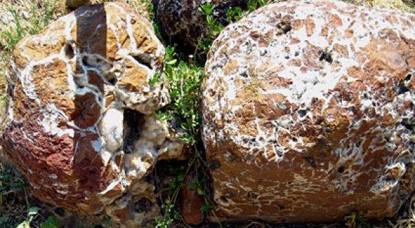 Ο λαϊκός θρύλος θέλει τους δύο άντρες να απολιθώνονται μόλις προσκρούουν στη γη. Αυτό το θρύλο έρχονται να επιβεβαιώσουν δύο κατακόκκινες πέτρες, που βρίσκονται μέχρι και σήμερα στο πίσω μέρος του ναού και οι οποίοι δεν έχουν καμία σχέση με κανένα άλλο πέτρωμα στο μεγάλο περίβολο του.