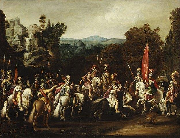Η φυγή των Αμαζόνων, Claude Deruet, 1620