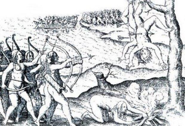 Αμαζόνες, γκραβούρα του 1601