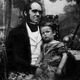 Ο Δαρβίνος με τον γιο του, Γουίλιαμ