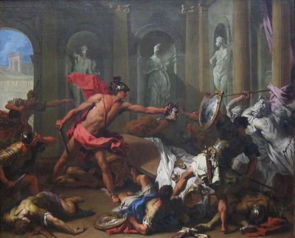 Ο Περσέας αντιμέτωπος με τον Φινέα με το κεφάλι της Μέδουσας από τον Sebastiano Ricci