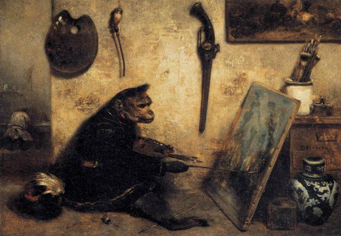 Οι πίθηκοι που ζωγράφιζαν. Οι κριτικοί τέχνης τους αποθέωσαν νομίζοντας ότι οι ζωγράφοι είναι άνθρωποι. Ο Πικάσο αγόρασε πολλά έργα τους